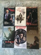 Lot of 6 Clint Eastwood Vhs movies Gauntler Enforcer Unforgiven