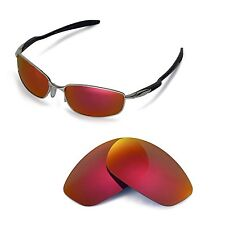 Walleva Polarized Fire Red Replacement Lenses for Oakley Blender Sunglasses