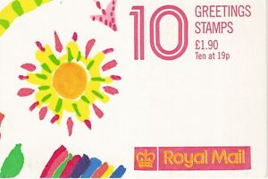 GREAT BRITAIN STAMPS MNH BOOKLET 10 GREETINGS STAMPS