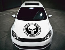 The Punisher Crâne Bonnet Capuche Cars Stickers Funny Graphics Décalque Décoration
