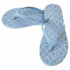 NWT CALVIN KLEIN AUTHENTIC WOMEN'S PETAL BLUE THONG FLIP FLOPS SANDALS SIZE 10