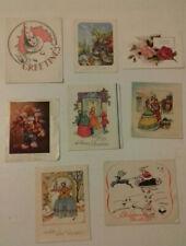 Vintage Christmas Cards unused 1950s lot of 8