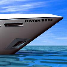 4 x Custom Boat Name Stickers Personalised Waterproof Decals - 60cm & 30cm Wide