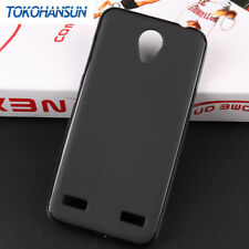 FUNDA DE TPU GEL SILICONA GOMA PARA MOVIL ZTE BLADE A520 COLOR NEGRA NEGRO LISA