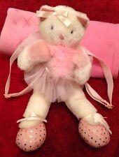 "Cherokee Blanc & Rose Ballerine Tutu Cat zippées Strap Back Pack 17"""