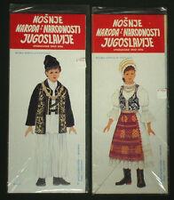 PAPERDOLLS boy & girl Vojvodina folk costume Serbia ethnic Former Yugoslavia
