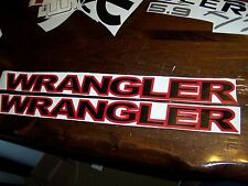 JEEP WRANGLER HOOD DECAL SET UNLIMITED SAHARA HARD ROCK TJ JK CHOOSE COLORS