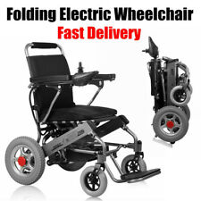 Electric Folding Wheelchair Power Wheel Chair Lightweight Mobility Aid Foldable