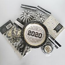 Graduation Party Supply 7 items Plates, Cupcake wrappers, confetti, straws New