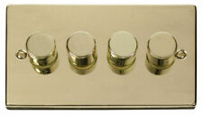 Polished Brass 4-Gang Dimmer Switche Home Electrical Fittings