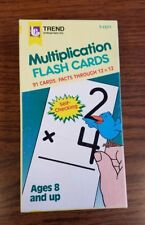 Flash Cards - Multiplication 91 Cards (Up to 12x12), Trend 1985 T-1571 Euc