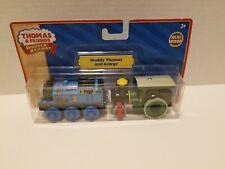 Thomas & Friends Wooden Railway NEW MUDDY THOMAS & GEORGE Train Engine Car