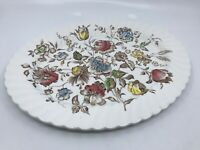 "Vintage ""Staffordshire Bouquet"" Johnson Brothers 13.5"" Platter Floral Scalloped"