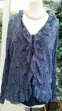Biaggini Blue Patterned top with cami top size 40 (UK 12) VGC