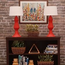 🔴for Barbie Red Geometric Lamp décor Living Room light Accessory Fr 1/6 *A1