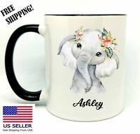 Personalized Baby Elephant, Coffee, Tea, Gift Mug 11oz