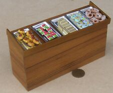 1:12 Scale Loose Small Cakes On Metal Trays Tumdee Dolls House Wooden Counter A