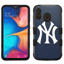 Samsung Galaxy A20 Hybrid Rugged Impact Armor Case New York Yankees #Y