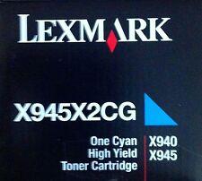 ORIGINALE Lexmark toner nuovo x945x2cg CIANO BLU PER x940 x945 a-Ware