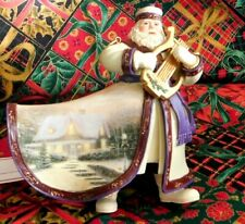 "Thomas Kinkade ""Silent Night Santa"" Old World Santas Ornament.Collection"