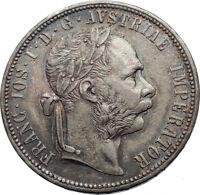 1879 AUSTRIA FRANZ JOSEPH I Silver Mint State Silver Florin Vintage Coin i73740