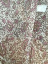 FLORAL PRINT SHEER PURE SILK  DRESS FABRIC