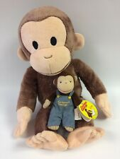 """Used Curious George 5"""" (Gund) and 15"""" (Kohl's Kids) Plush"""