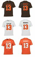 ODELL BECKHAM JR #13 BROWNS TEAM CUSTOM LOGO PLAYER NAME & NUMBER JERSEY T-SHIRT