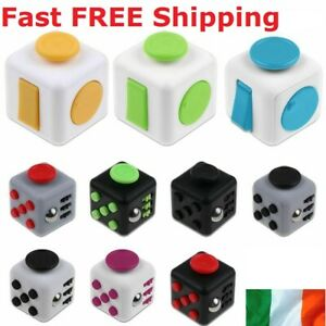 Magic Fidget Cube Stress Anxiety Relief Kids Children Adult Hand Toy Spinner