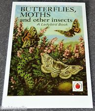 Ladybird Book Cover Postcard BUTTERFLIES, MOTHS new