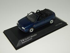 VW GOLF III CABRIO 1993-1998 - BLAU METALLIC - MINICHAMPS-  - NVP - SCALE 1:43