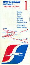 Greyhound Lines Folder 1 timetable schedule - 1973 October 28