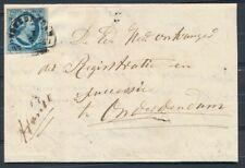 1 i PLAAT III,HALFROND ONDERDENDAM B 5/7 1857 OP BRIEF UIT WINSUM,NAAMST. Ad921