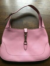 469f89652b7f Gucci Grained Leather Hobo Tote Handbag Piston Strap Closure Pink Large