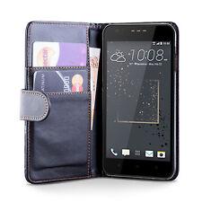 Idefend HTC Desire 530/HTC Desire 630 PU étui en Cuir Noir + Protecteur