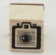 Box Camera Wood Mounted Rubber Stamp Inkadinkado NEW party fun scrapbook art