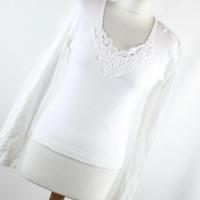 Nouveau Edition Womens Size M White Plain Cotton Basic Tee