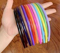 Women Girls Kids Strong Plastic Sports School Slim thin Hair band Headband hoop
