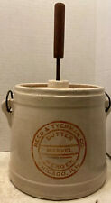 Reed & Tyerman Co Chicago Stoneware Table Top Butter Churn / Masher