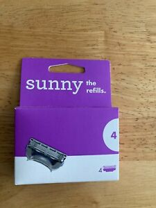 SUNNY WOMEN'S RAZORS THE REFILLS 4 PACK *100% GENUINE*