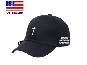 Embroidery Cross Baseball Cap Women Men K-pop Hat Christian Cap Unisex Cap