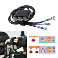 CNC 25MM Motorcycle Handlebar Switch Push+Press Buttons for LED Light Horn Motor