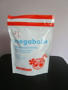 Megababe Wipes Clothes with Coconut Hibiscus Fresh Gym Hot Summer Sealed