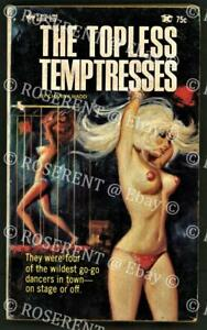 """1965 Pulp paperback """" the Topless Temptresses"""" by Channy Wadd - sexploitation"""
