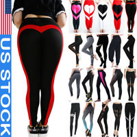 Ladies Women High Waist Yoga Leggings Trousers Fitness Sports Gym Running Pants