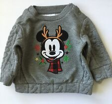 NWT DISNEY BABY Infant Boy MICKEY MOUSE CHRISTMAS WINTER SWEATER 3-6 Months