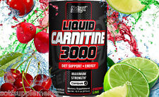 NUTREX LIQUID L-CARNITINE 3000 CHERRY LIME 16OZ WEIGHT LOSS SUPPORT +SHIPS FREE