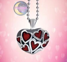 New  Red Hearts Urn Cremation Pendant Ash Silver Memorial Necklace