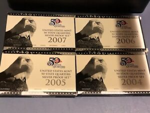 2005 Silver quarter proof set with box and papers