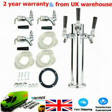 More details for draft beer towers triple faucet stainless steel triple tap 3-inch bar pub tool